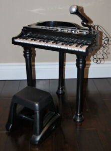 Bruin Electronic Baby Grand Toy Piano with Microphone and Stool
