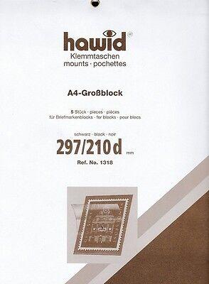hawid  1318  Blockstreifen Großblock A4 schwarz