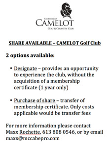 Camelot Golf Club - Share Available