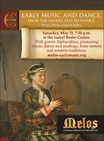 Melos concert: Early Music & Dance from Middle East to France,