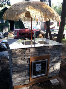 Custom Built Tiki Bar For Sale – Perfect For The Water Front!