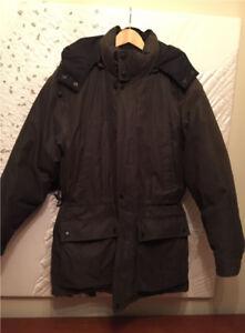 Men's winter jacket  (Down filled, Dark Brown)