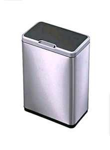 EKO Mirage Motion Sensor Touchless Stainless Steel Trash Can