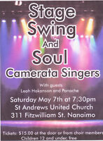 """Camerata Singers present """"Stage, Swing and Soul"""""""