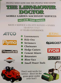 Open Easter Saturday The lawnmower doctor castleford sales and service