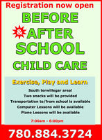 After & Before School Care! South terwillegar area!