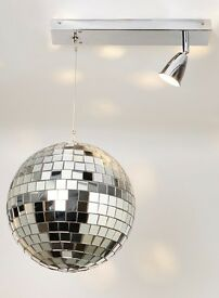 Motorised disco ball ceiling light
