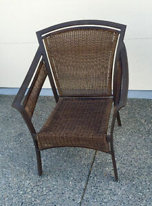 One outdoor wicker chair