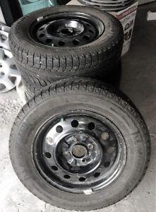 Set of 4 Michelin X-Ice Winter Tires on rims - Size 205/65 R15 Regina Regina Area image 1