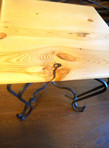 2 Side or End Tables with Custom Pine Tops