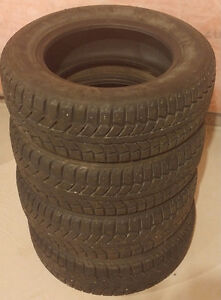 4 UNIROYAL WINTER TIRES IN GOOD CONDITION ONLY $60!
