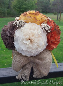 Fall Coffee Filter Arrangement/Thanksgiving/Fall Wedding Flowers Belleville Belleville Area image 4