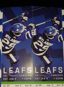 Maple Leaf Tickets for Sale - Saturday Jan 5, 2019 game