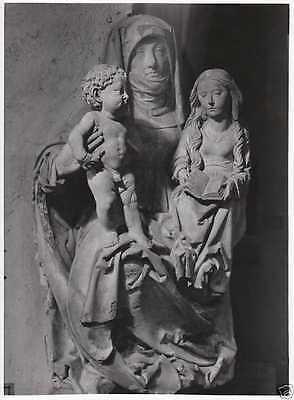 Prof. Walter Hege: Skulptur Selbdritt, Original Vintage