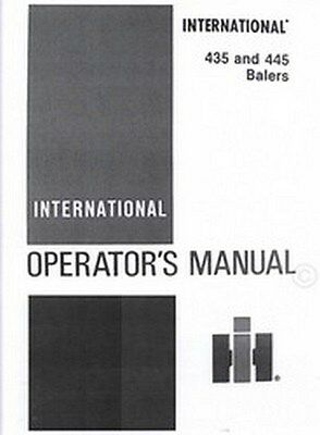 International 435 And 445 Baler Owner Operators Manual Ih