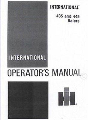 International 435 And 445 Baler Owner Operators Manual Ih