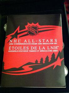 NHL All Stars 2004 Commemorative Stamp & Medallion Set