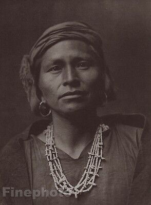 1900/72 Photo Gravure NATIVE AMERICAN INDIAN Female Governor EDWARD CURTIS 11x14