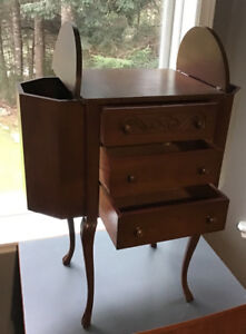 Gibbard 3 drawer Sewing Table (Walnut)