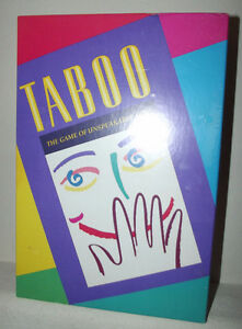 Original Taboo, Celebrity Taboo, Taboo Jr.-- all are complete London Ontario image 1