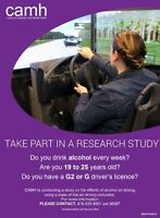 Alcohol and Driving Research Study
