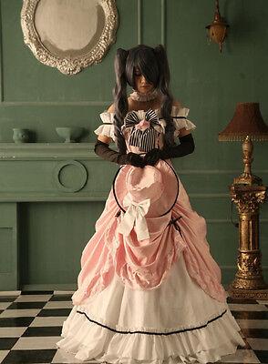 Kuroshitsuji Black Butler Ciel Cosplay costume Kostüm Abendkleid wig Perücke set