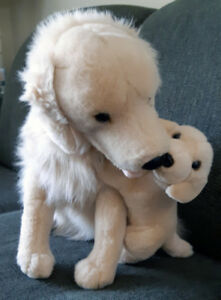 """Golden Retriever+pup plush toy 16"""" tall, clean like new. $20"""
