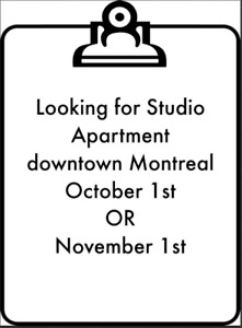 LOOKING FOR STUDIO DOWNTOWN (1 PERSON)