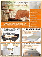 Lits a partir de $150/Beds starting at $150/Chambres a coucher