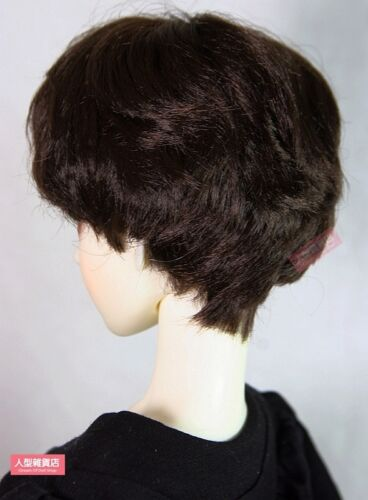 BJD Doll 1//3 8-9 Wig Short Curly Hair Mohair For Boy Girl black brown