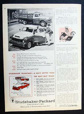 Orig 1957 Studebaker Pickup Truck Ad SIX WAYS BETTER THAN THE NEXT BEST