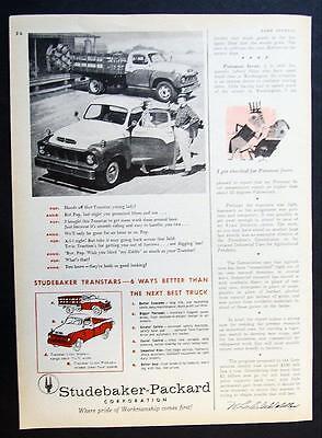 Orig 1957 Studebaker Pickup Truck Ad Six Ways Better Than The Next Best Truck