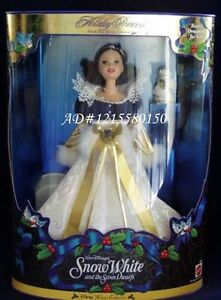 Disney Snow White HOLIDAY PRINCESS Barbie Doll NEW Mint in Box