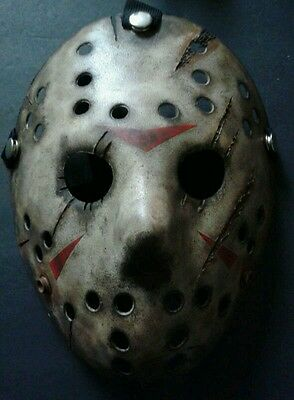 Friday The 13th Freddy Vs Jason Halloween Mask Battle Damaged V2 Voorhees - Friday The 13 Vs Halloween