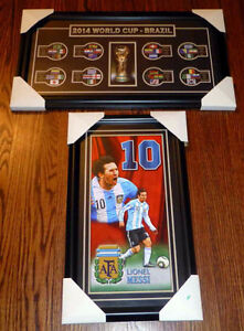 2014 World Cup of Soccer Framed Prints Lionel Messi Brazil Teams
