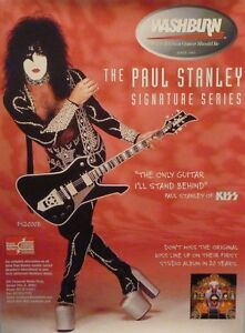 KISS Paul Stanley Washburn Guitars POSTER 18x24  Rare Livres etc