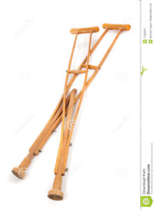 Crutches for a tall person