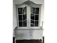 French Oak display cabinet - Annie Slone upcycled (Victorian Cabinet style)