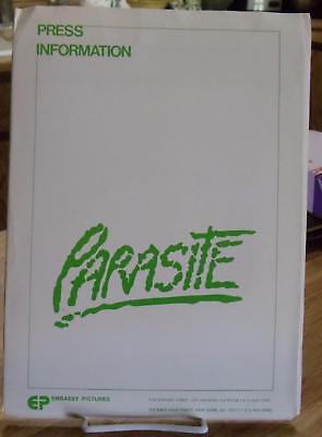 PARASITE ~ COMPLETE ORIGINAL MOVIE PRESS KIT COMPLETE 8 PHOTOS