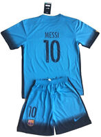 kids set Barcelona, jerseys and shorts Messi 10 for 6-11 years