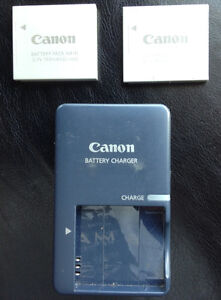 Canon battery recharger and battery(x2)