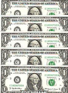 1999 One Dollar Sequentials