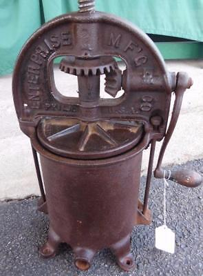 Antique Enterprise Sausage Stuffer Lard Fruit Wine Cider Press Cast Iron Nice 3