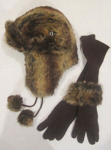POINT ZERO --- Luxury Faux Fur SEXY Trapper Hat and Gloves!!