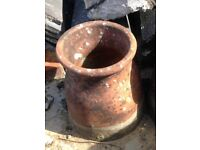 Reclraimed Terracotta Chimney Pot (2 available, priced individually)