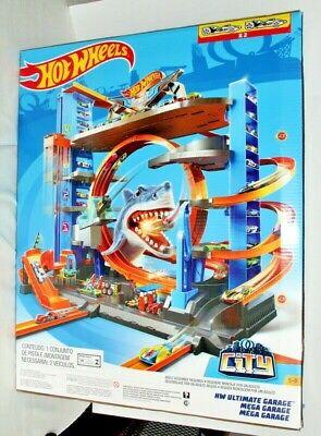 Hot Wheels Ultimate Garage Tower Shark Loop Racetrack NEW in BOX