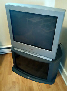 """27"""" TV and stand"""