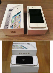 iPhone 4s 4 S white cellphone smartphone Box APPLE i phone