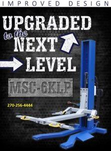 Single Post Mobile Lift Column MSC-6K-LP  6,000 lb.  All New Low Pro iDeal