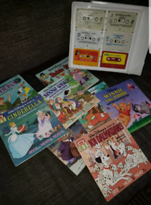 Vintage Disney Take a tape along audio cassettes and books